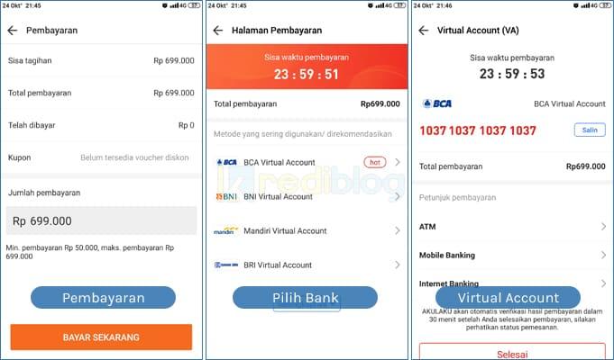 bayar akulaku dengan mobile banking
