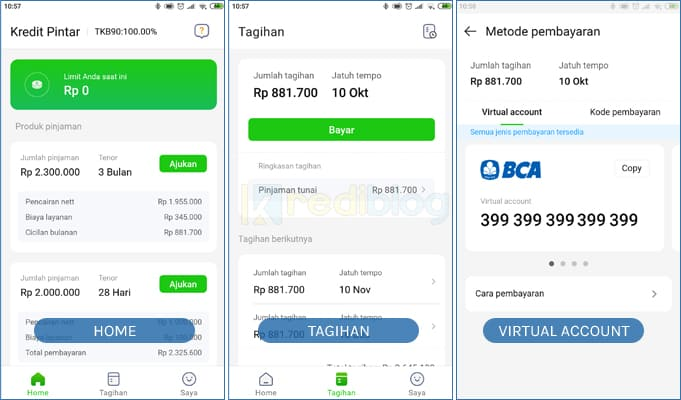 cara dan tutorial bayar kredit pintar dengan mobile banking bca