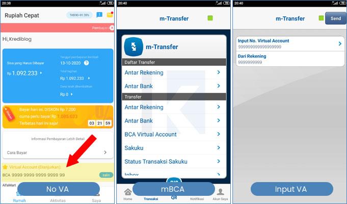 bayar rupiah cepat dengan mobile banking bca