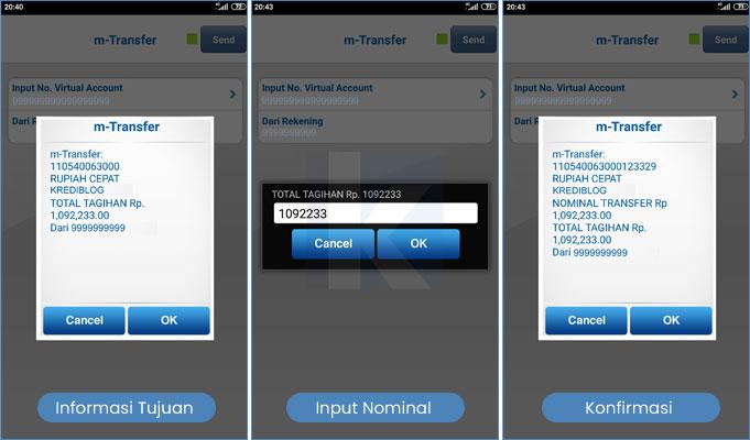 cara bayar rupiah cepat dengan mobile banking bca