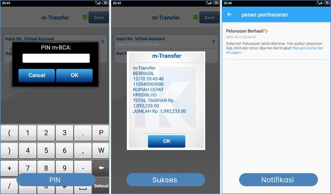 tutorial bayar rupiah cepat dengan mobile banking bca