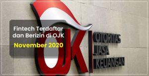 Fintech Terdaftar dan Berizin di OJK per 5 November 2020 ...