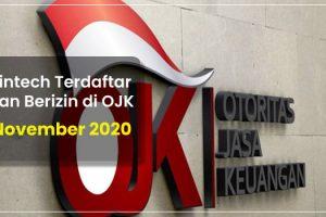 Fintech Terdaftar dan Berizin di OJK per 5 November 2020