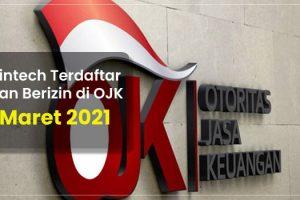 Fintech Terdaftar dan Berizin di OJK per 16 Maret 2021