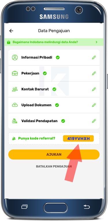 kode referal indodana dana tunai