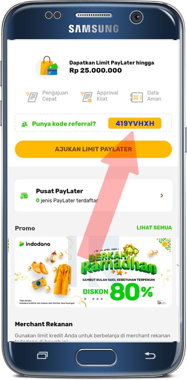 kode referal indodana paylater